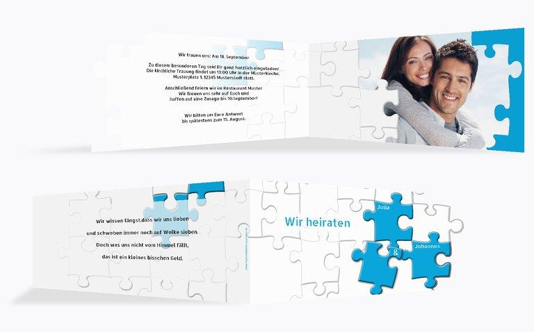 Kontur Einladung Puzzlekontur
