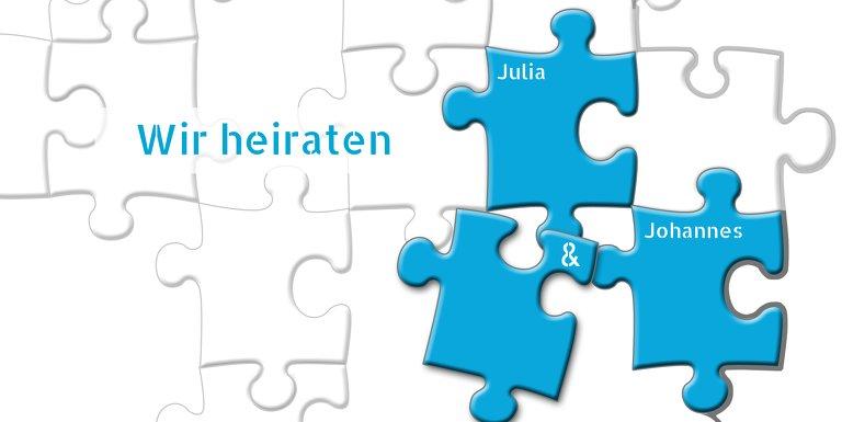 Ansicht 3 - Kontur Einladung Puzzlekontur