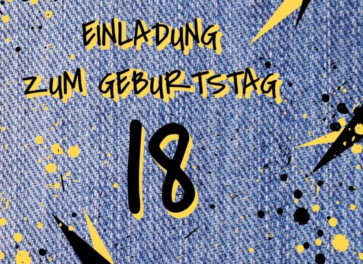 Ansicht 3 - Geburtstagseinladung Jeans Style 18 Foto