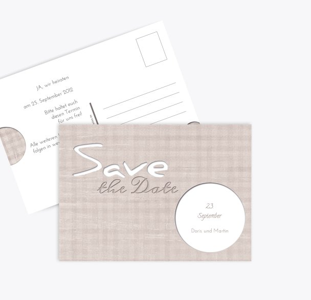 Save-the-Date wedding harmony