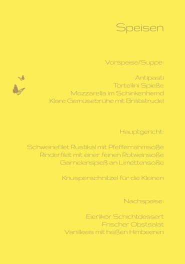 Ansicht 5 - Menükarte Kommunion Butterfly