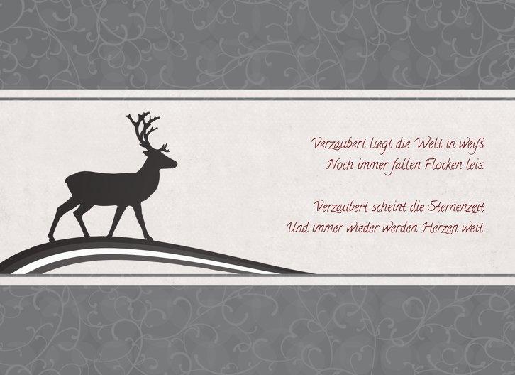 Ansicht 4 - Grußkarte classic Elch