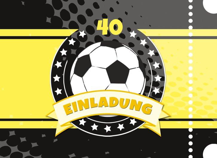 Ansicht 3 - Einladungskarte Fußballstar