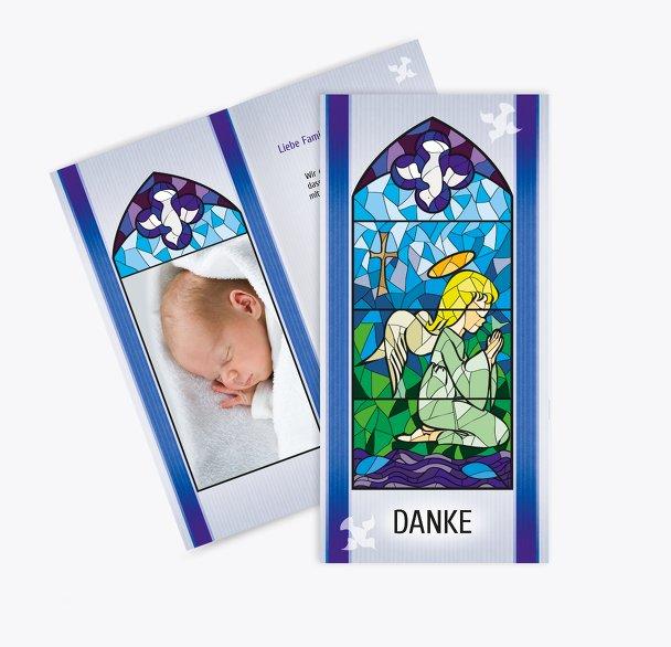 Taufe Dankeskarte Kirchenfenster