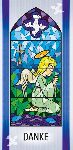 Ansicht 3 - Taufe Dankeskarte Kirchenfenster