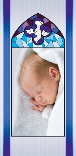 Ansicht 4 - Taufe Dankeskarte Kirchenfenster