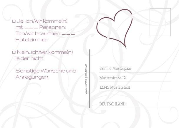 Ansicht 3 - Hochzeit Antwortkarte Band
