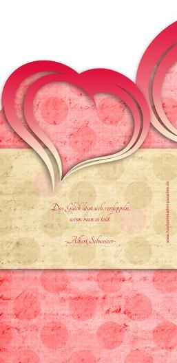 Ansicht 2 - Kontur Einladung große Herzen