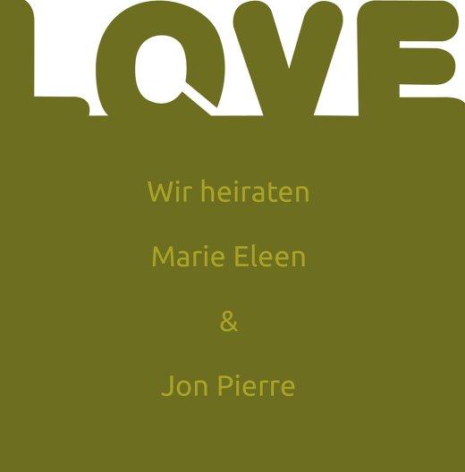 Ansicht 3 - Kontur Einladung Love