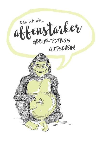 Ansicht 2 - Gutschein zum Geburtstag Tiergarten Affenstark