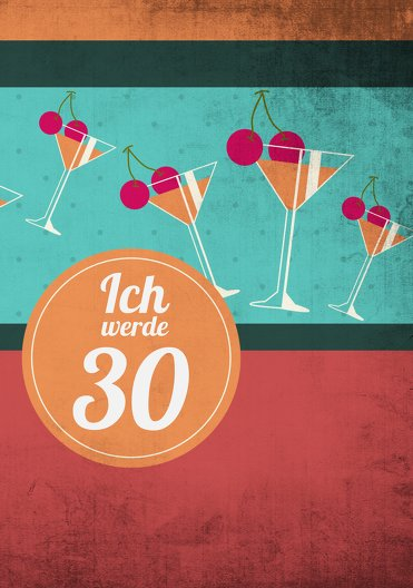 Ansicht 3 - Geburtstagseinladung Cocktailparty 30