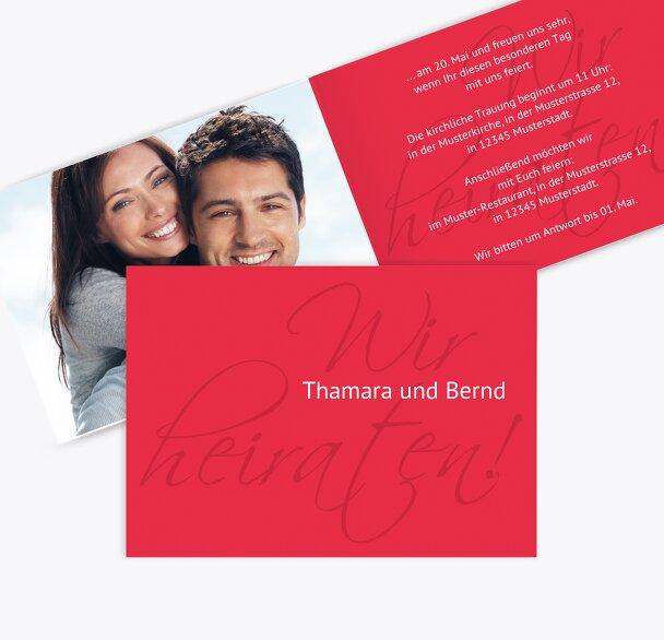 Hochzeit Einladung Liebesbrief