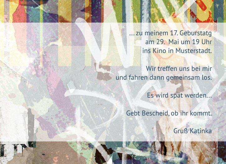 Ansicht 5 - Einladung Jugendliche Foto Graffiti