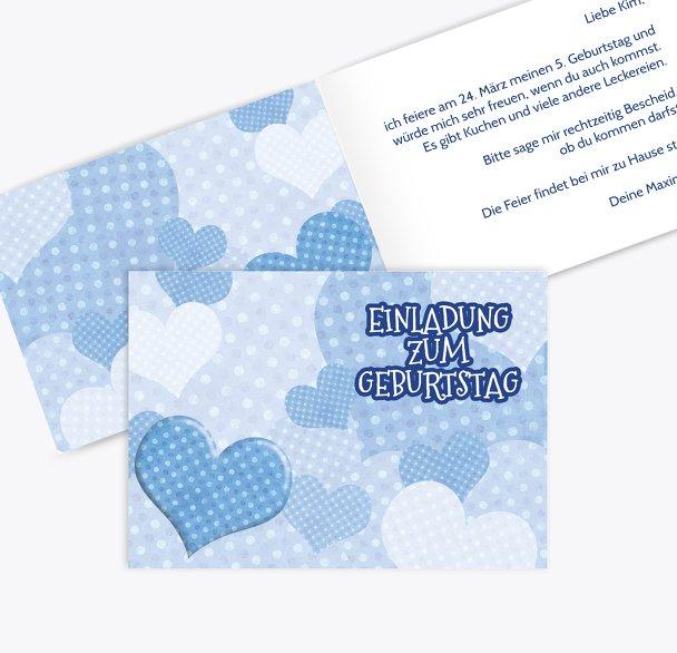 Einladung Herz mit Punkten