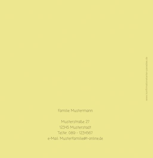 Ansicht 3 - Konfirmation Dankeskarte Gräser