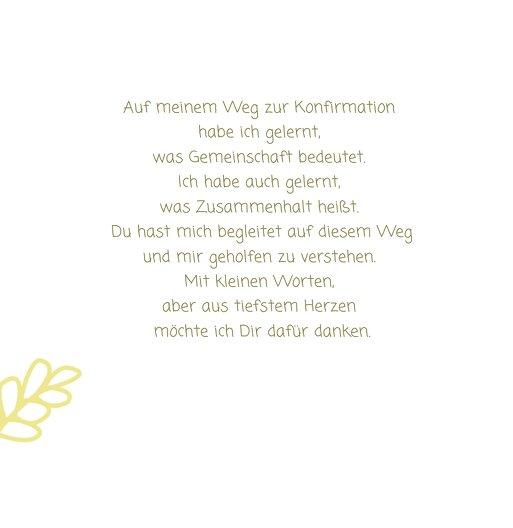 Ansicht 6 - Konfirmation Dankeskarte Gräser