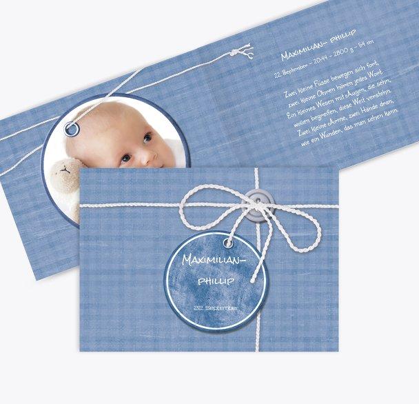 Geburtskarte Faden