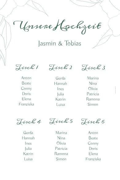 Ansicht 2 - Sitzplan Hochzeit Zahrte Blume