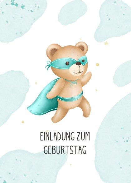 Ansicht 2 - Einladung Kindergeburtstag Super-Bär