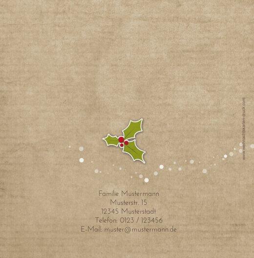 Ansicht 2 - Foto Einladung Weihnachtskranz