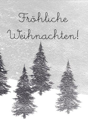 Ansicht 3 - Grußkarte Winterwald