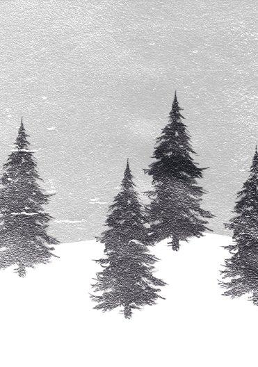 Ansicht 4 - Grußkarte Winterwald