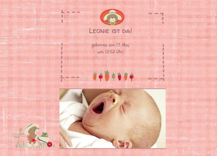 Ansicht 2 - Geburtskarte Paper