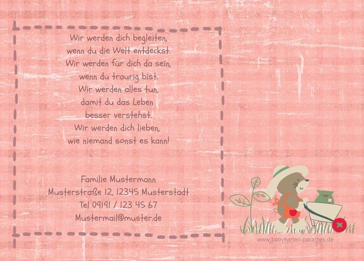 Ansicht 3 - Geburtskarte Paper