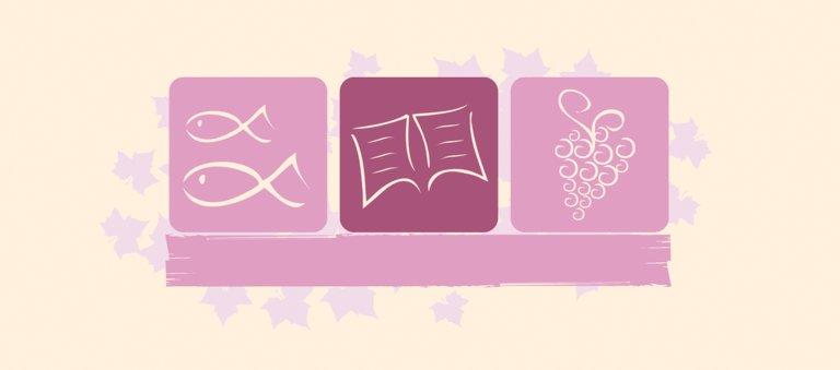 Ansicht 3 - Tischkarte zur Kommunion Blatt