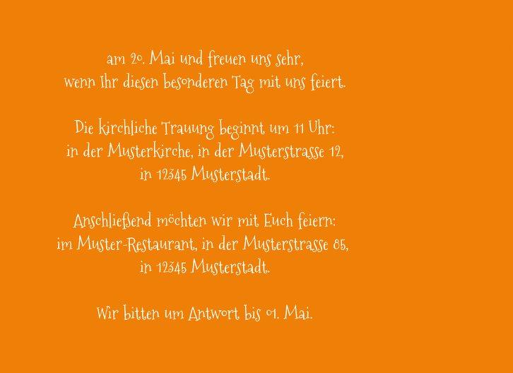 Ansicht 5 - Kontur Einladung Liebespaar