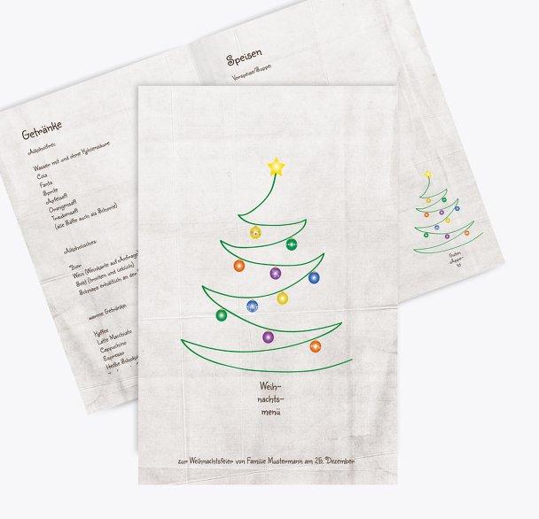 Menükarte Weihnachtsbaum