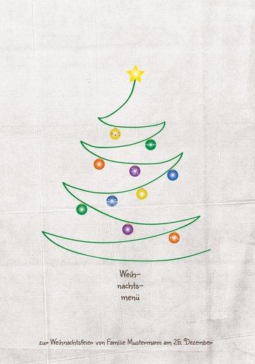 Ansicht 3 - Menükarte Weihnachtsbaum