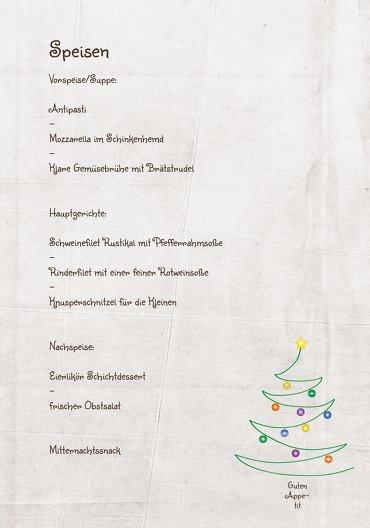 Ansicht 5 - Menükarte Weihnachtsbaum