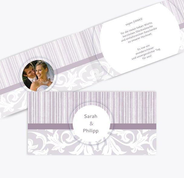Hochzeit Dankeskarte Streifenzauber