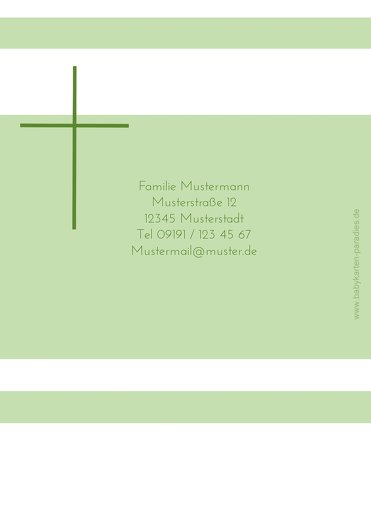 Ansicht 2 - Konfirmation Dankeskarte Kreuz
