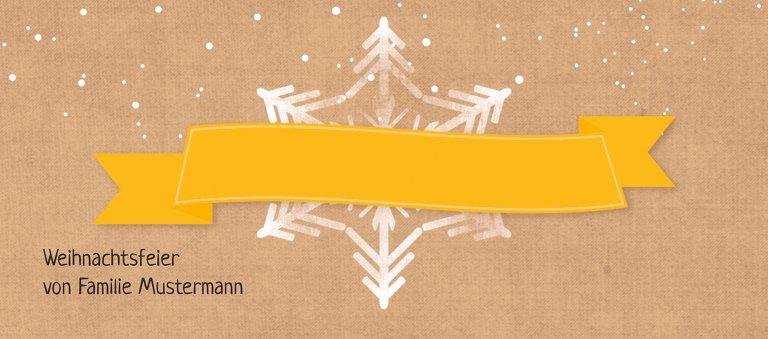 Ansicht 3 - Tischkarte Schneestern