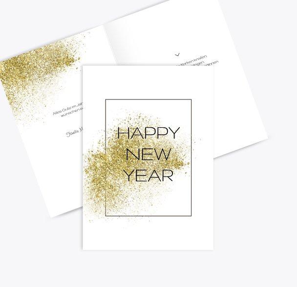 Neujahrskarte Glitter