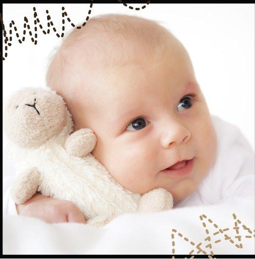 Ansicht 2 - Baby Dankeskarte Naht