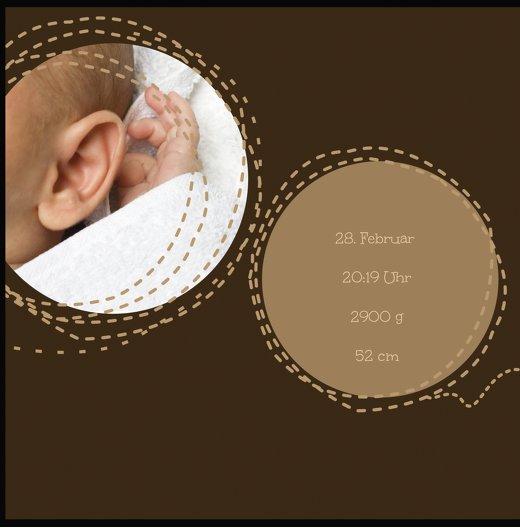 Ansicht 5 - Baby Dankeskarte Naht