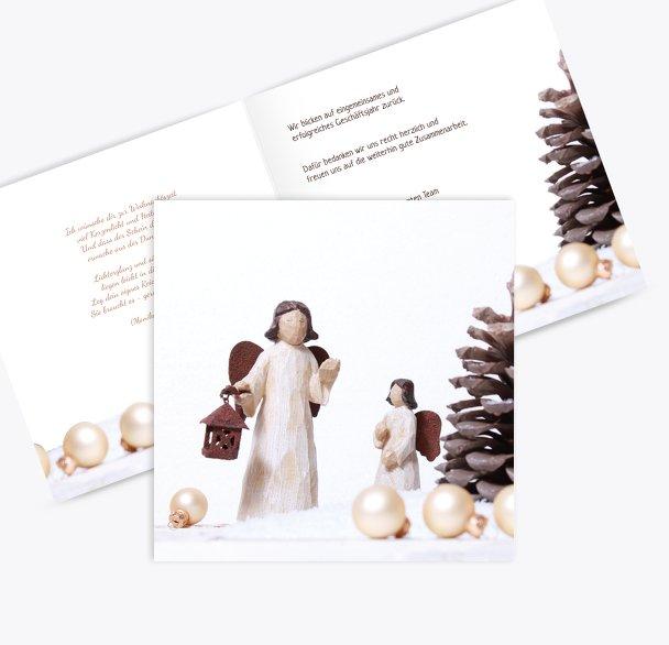 Grußkarte Weihnachtsengel