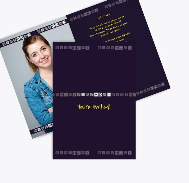 Einladungskarte Birthday Boxes Foto