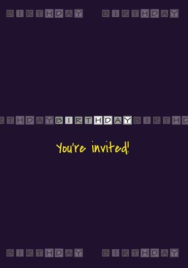 Ansicht 3 - Einladungskarte Birthday Boxes Foto