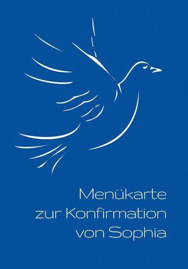 Ansicht 3 - Menükarte Konfirmation Pigeon