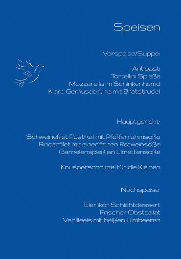 Ansicht 5 - Menükarte Konfirmation Pigeon
