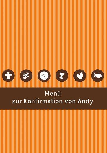 Ansicht 3 - Konfirmation Menükarte stripes-buttons