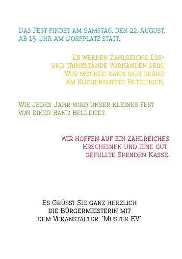 Ansicht 5 - Einladung Sommerfest Sommer