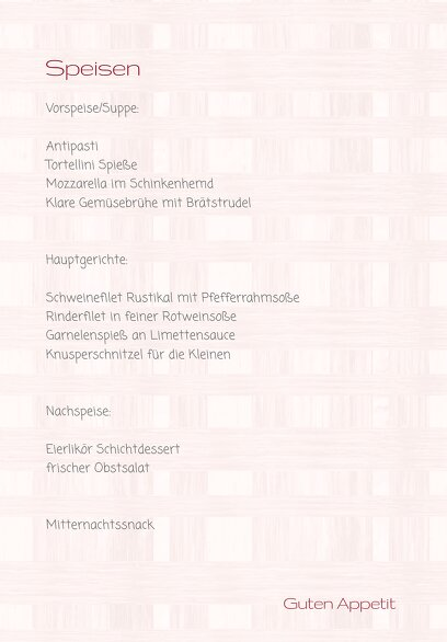 Ansicht 5 - Hochzeit Menükarte Liebestraum