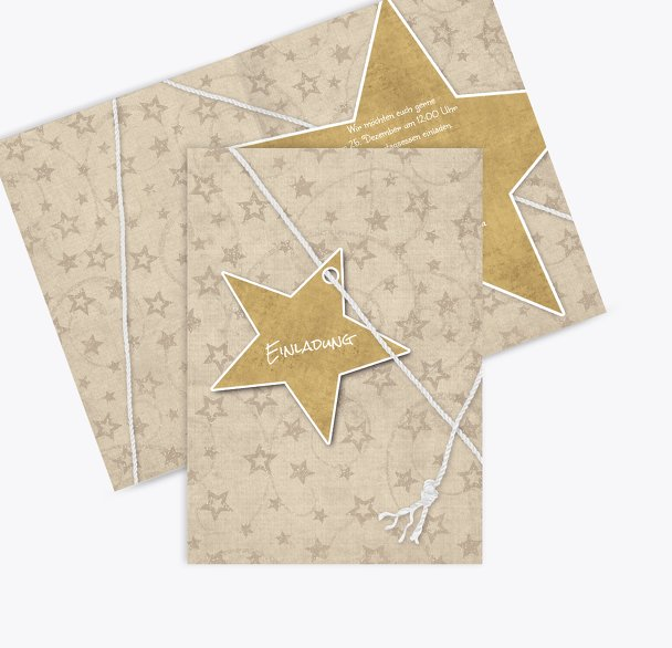 Einladung Sternenschnur