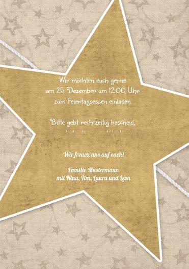 Ansicht 5 - Einladung Sternenschnur