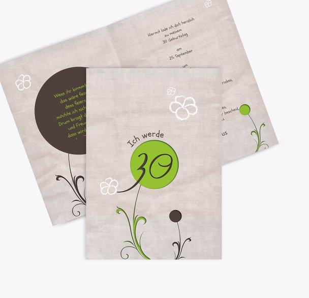 Geburtstagskarte Fantasyflower 30